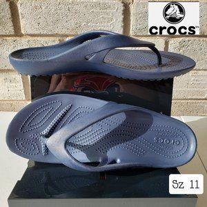 NWOT Crocs Kadee II Flip Flops Women Blue 11